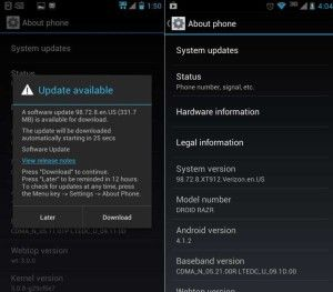 Systeem update Android