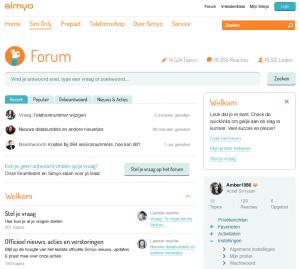 Vernieuwd Simyo Forum