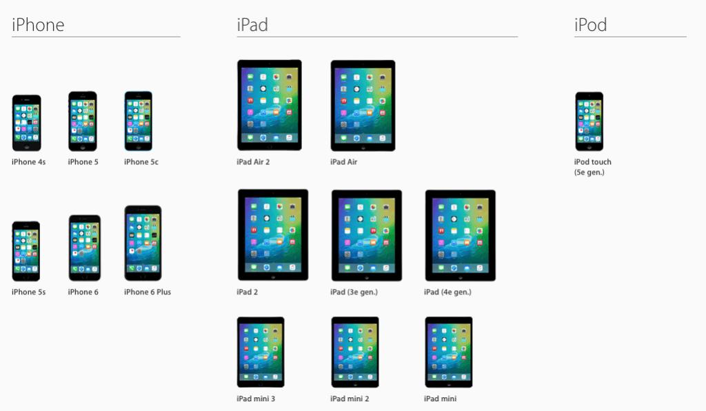 Apple iOS 9 apparaten