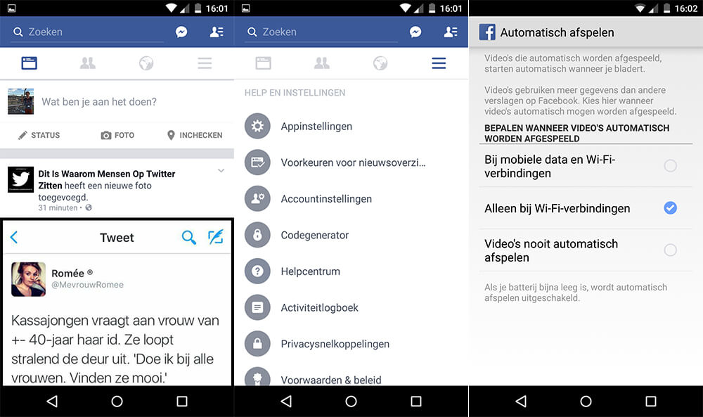 Android - Facebook