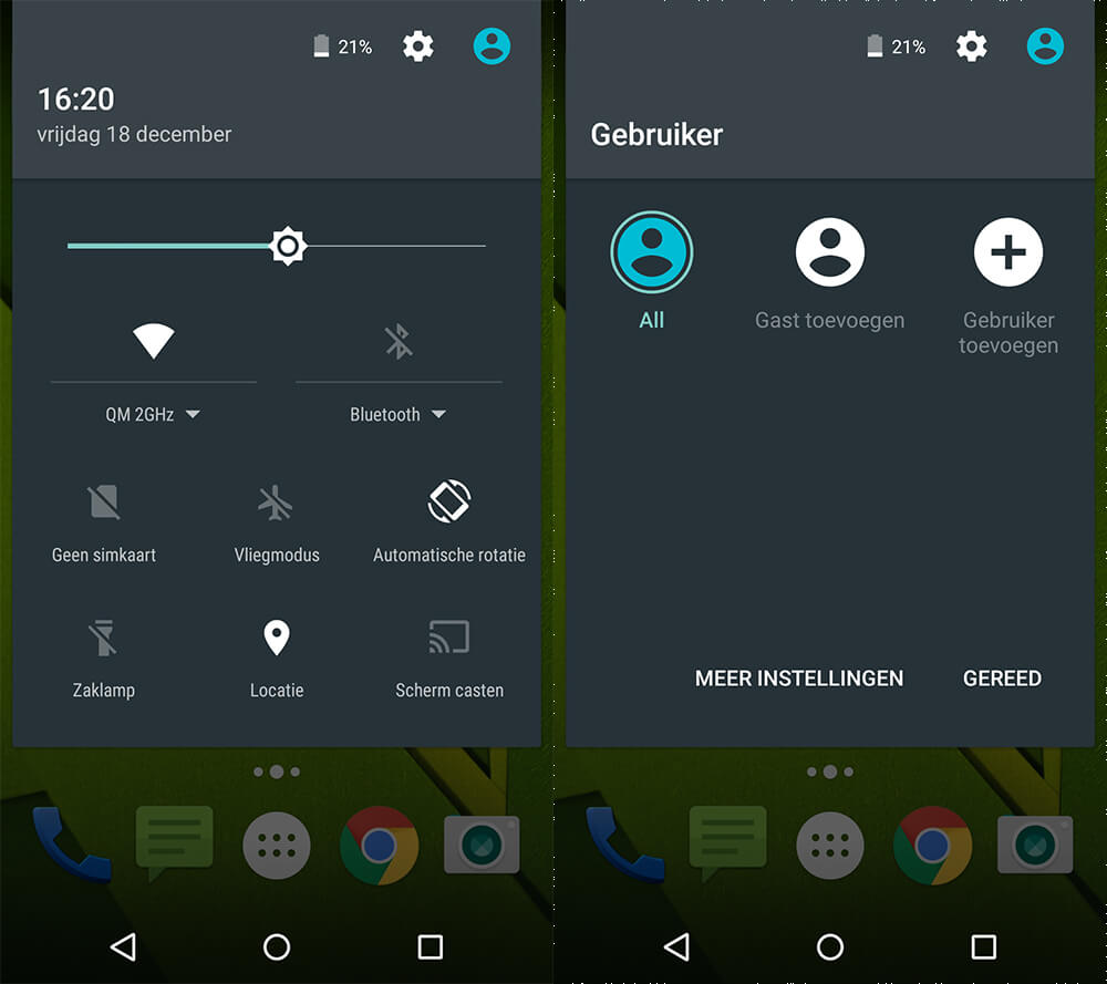 Android - Gastaccount