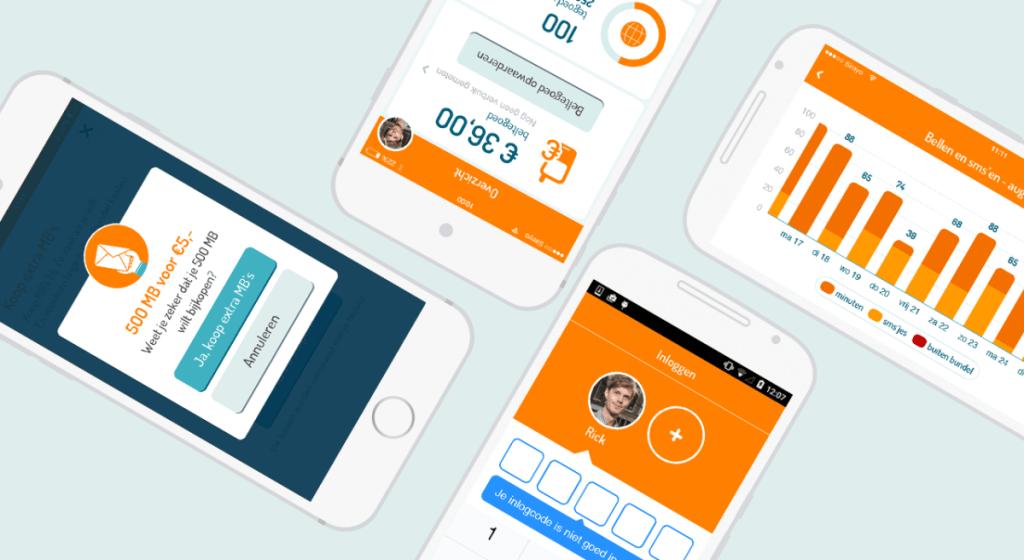 Overzicht Mijn Simyo app