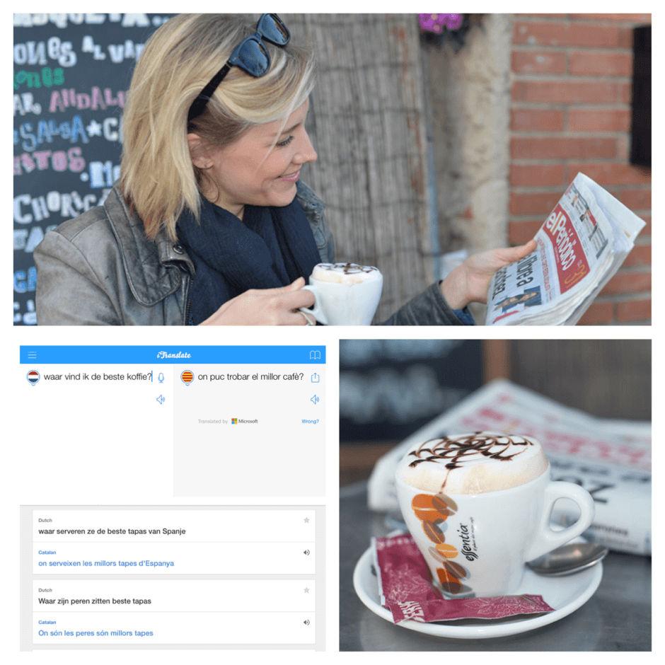 Zo'n Spaans krantje lezen met een vertaal-app is va sense problemes!