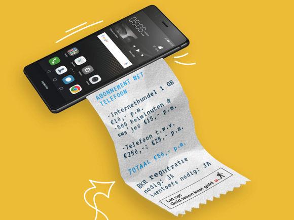 Simyo telefoon op afbetaling