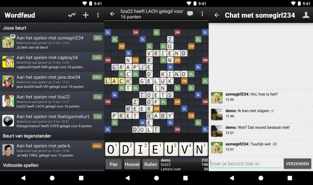 Wordfeud: scrabble in app vorm